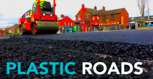 Plastic in roads – plastic bottles and bags recycled to build roads